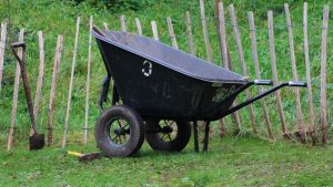 How to store a wheelbarrow featured image.