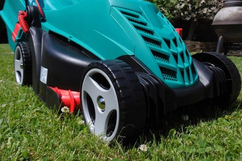 Best corded electric lawn mower featured image.